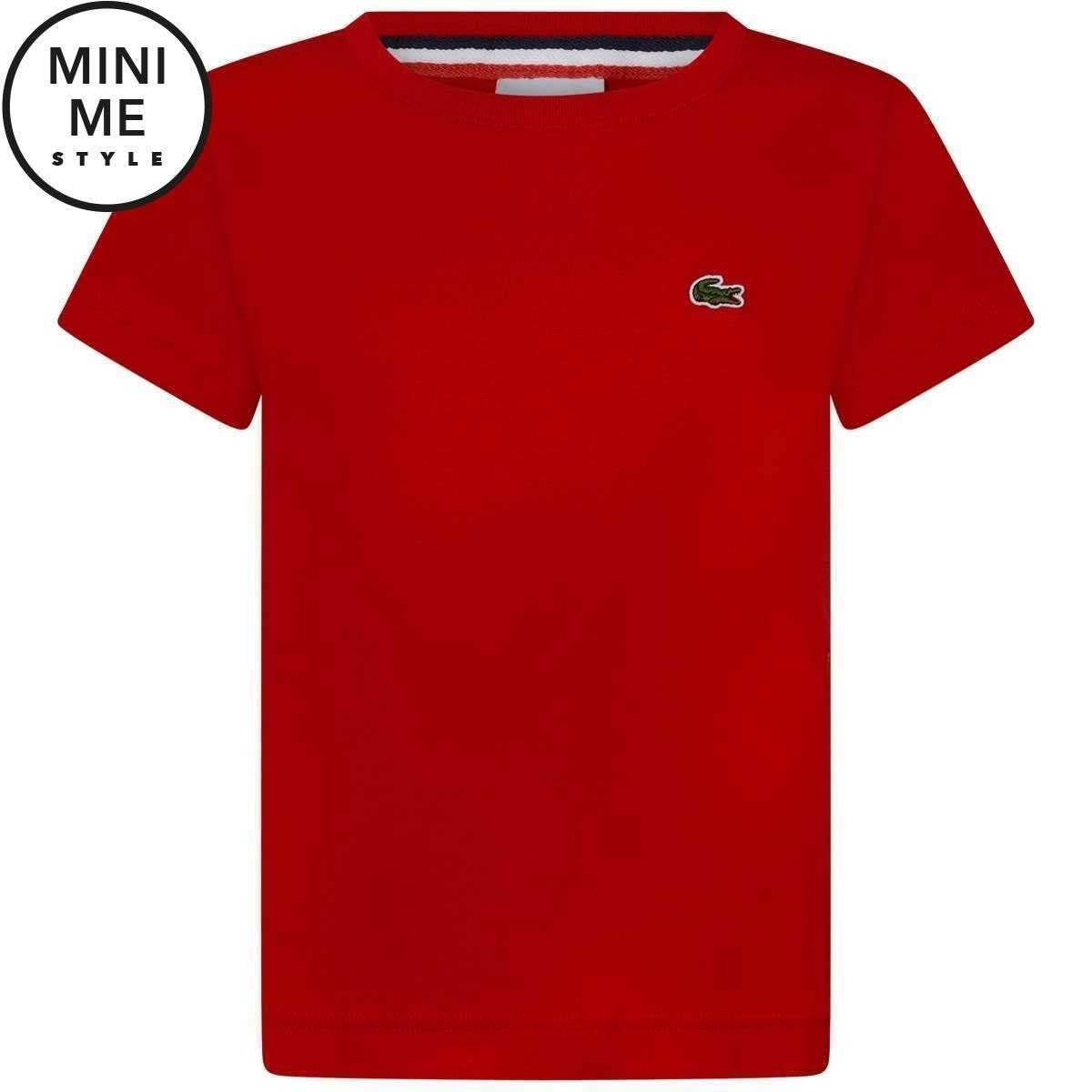 Classic Größe Branded Lacoste Red 5j Boys shirt S T trqq0AEwOx