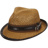 Santana Straw Fedora- Mohican Honey