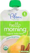 Plum Organics Stage 1 Hello Morning Pears & Quinoa