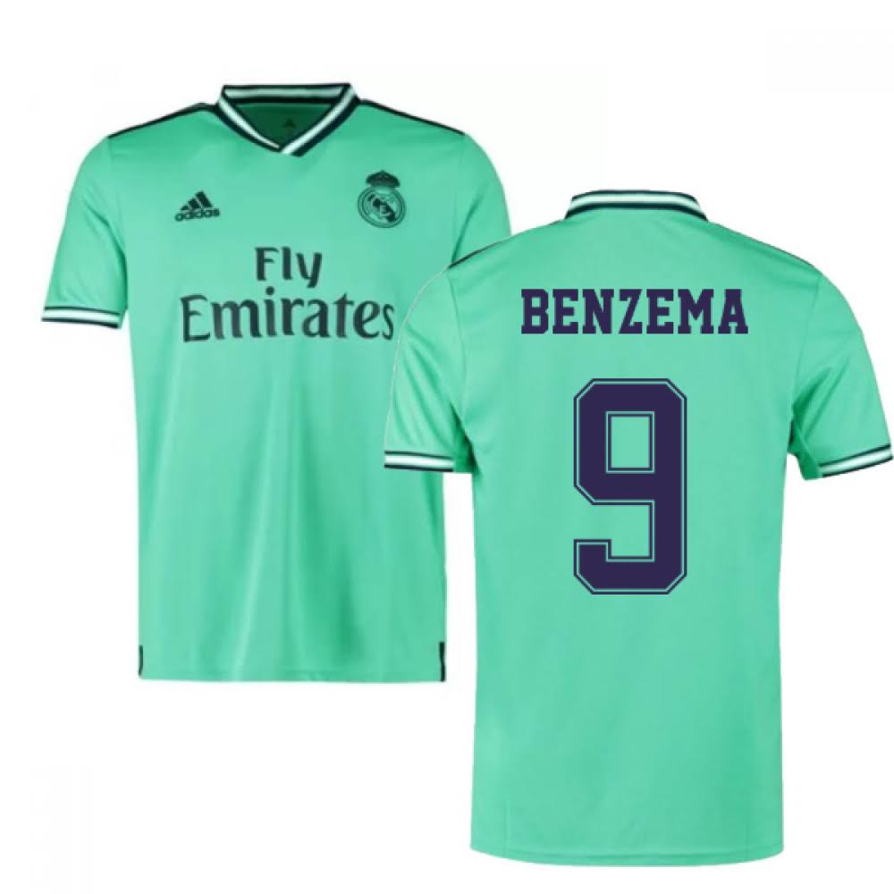 2019-2020 Real Madrid Adidas Third Shirt (Kids) (BENZEMA 9)