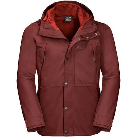 3in1 Jack Jacket Wolfskin Harbor Redwood Hombre West Para w8XwqU