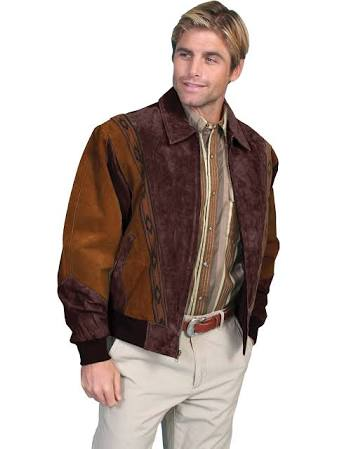 Boar Scully Hombre Two toned Suede Para 62 Rodeo Chaqueta Marrón Regular CwFXq5gnx
