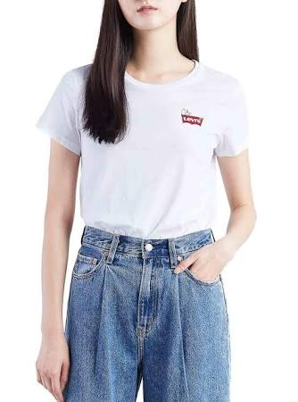 Peanutshsmkchestwhite Perfect Levis Chest Camiseta Tee Hsmk Peanuts White The mulheres gqwzwU7