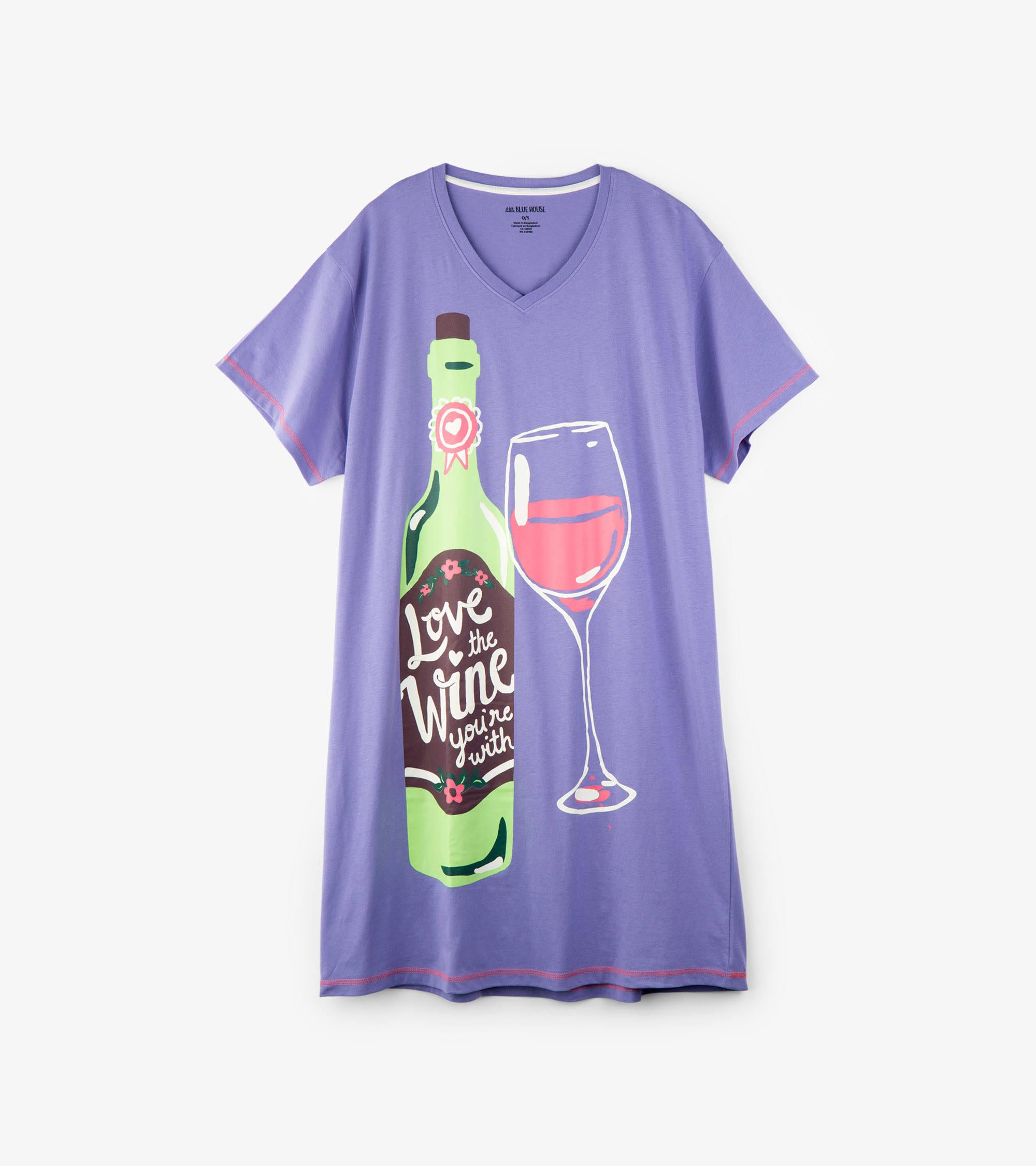 Womens Standard Von Little Hour Happy Mit Wein Blue Sleepshirts House Sie Hatley Den Lieben pwUwTqR