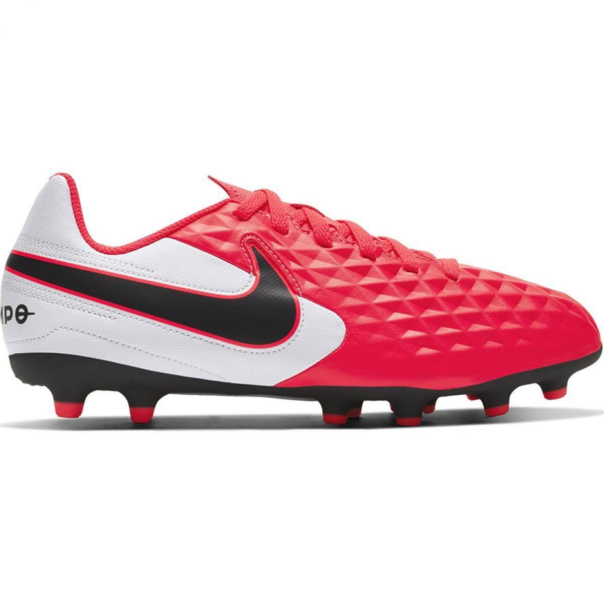 (5) Nike Tiempo Legend 8 Club FG/MG JR AT5881-606 Kids Red Football Trainers