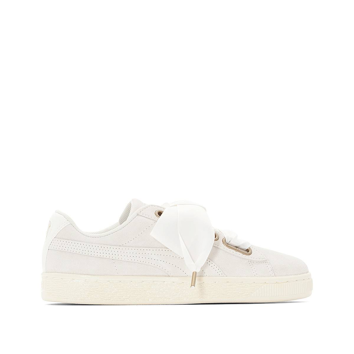 Beige Satin damen Puma Heart Tennis white Wildleder Wn W00nRUAH