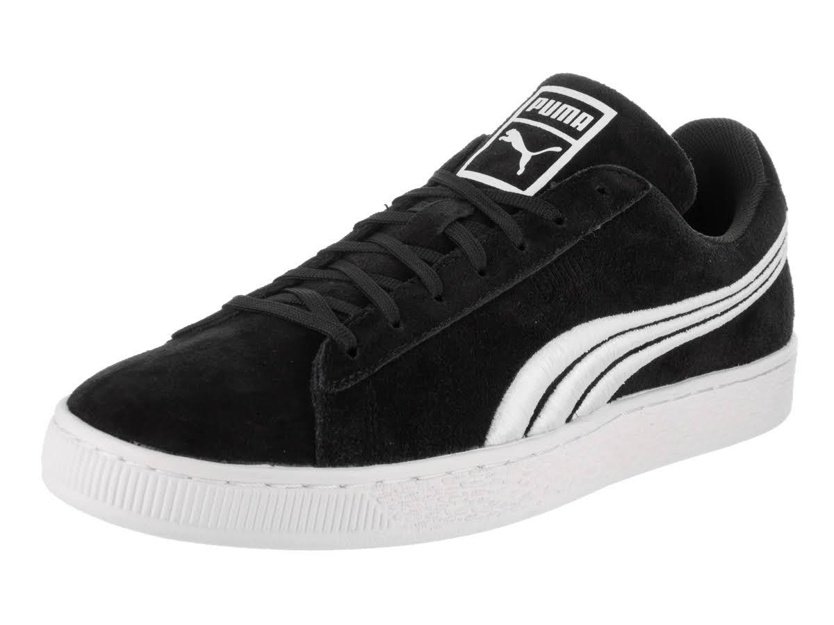 Men 7 Suede Negro Blanco 5 Puma Classic Tamaño Badge Sneaker AUwq18x
