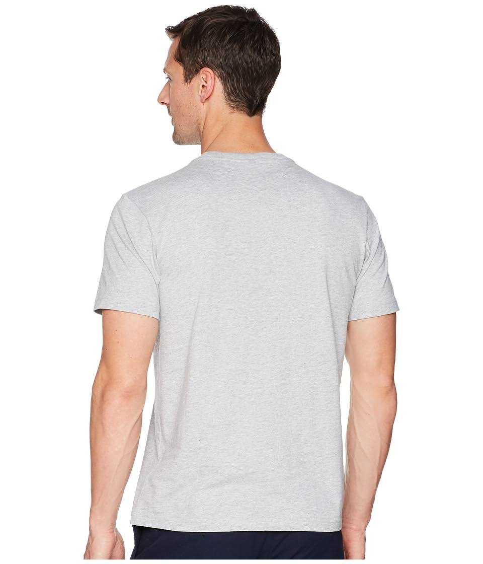 Rundhalsausschnitt Grey Übergröße Mit Lacoste Krokodil Chine In Herren T baumwolle Aus White shirt FxwTIqvRO