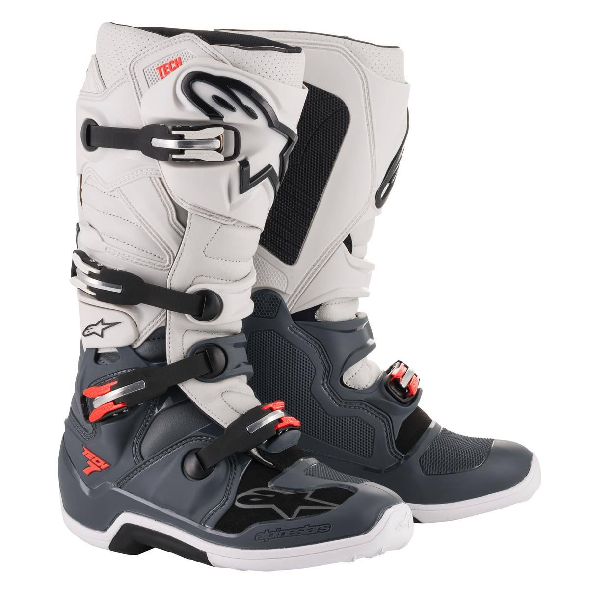 Rot Motocross 7 Boot Grau Alpinestars Tech xoQrshtdCB