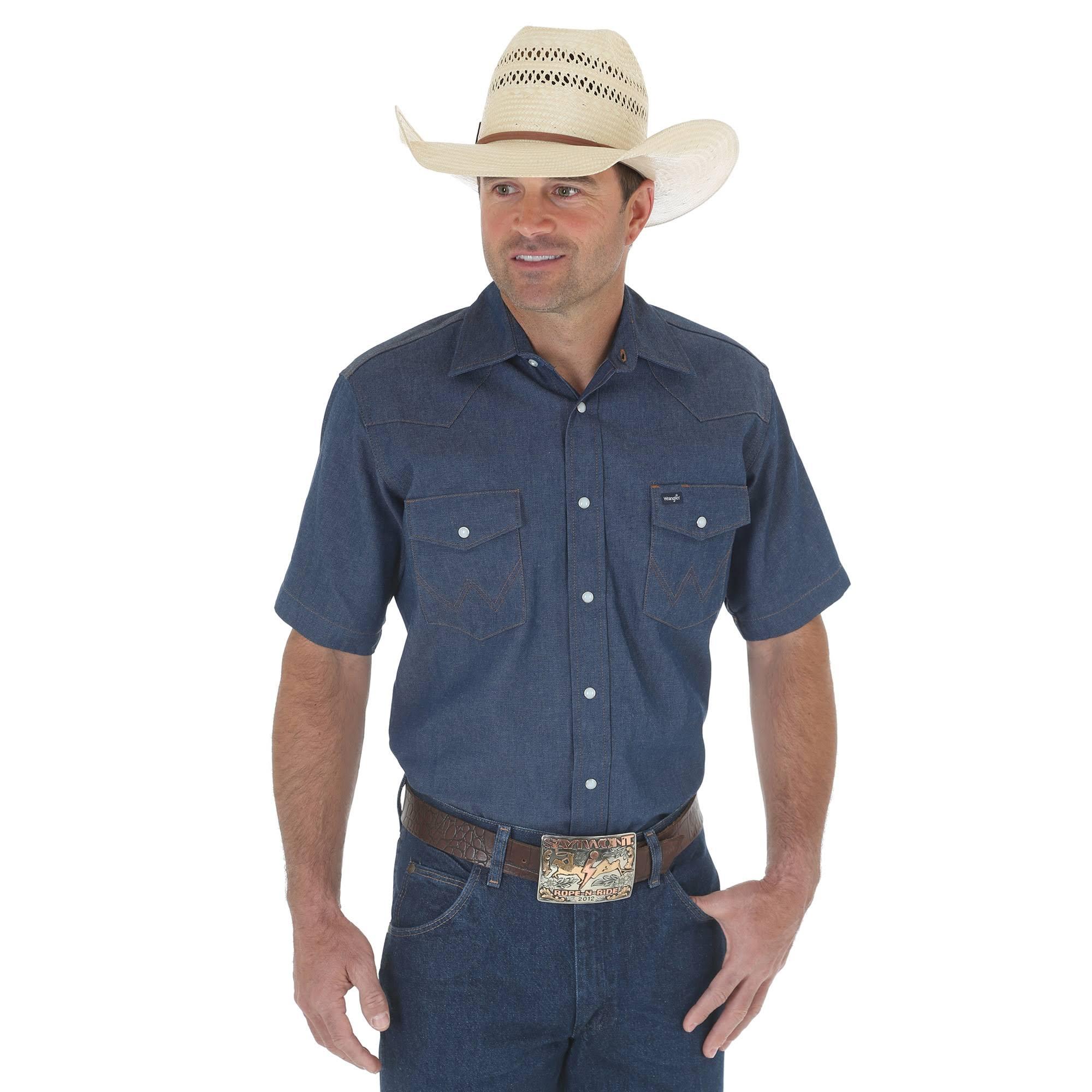 Wrangler Westernhemd Authentic Cut tall Herren Work Cowboy Big 4qz4Aa