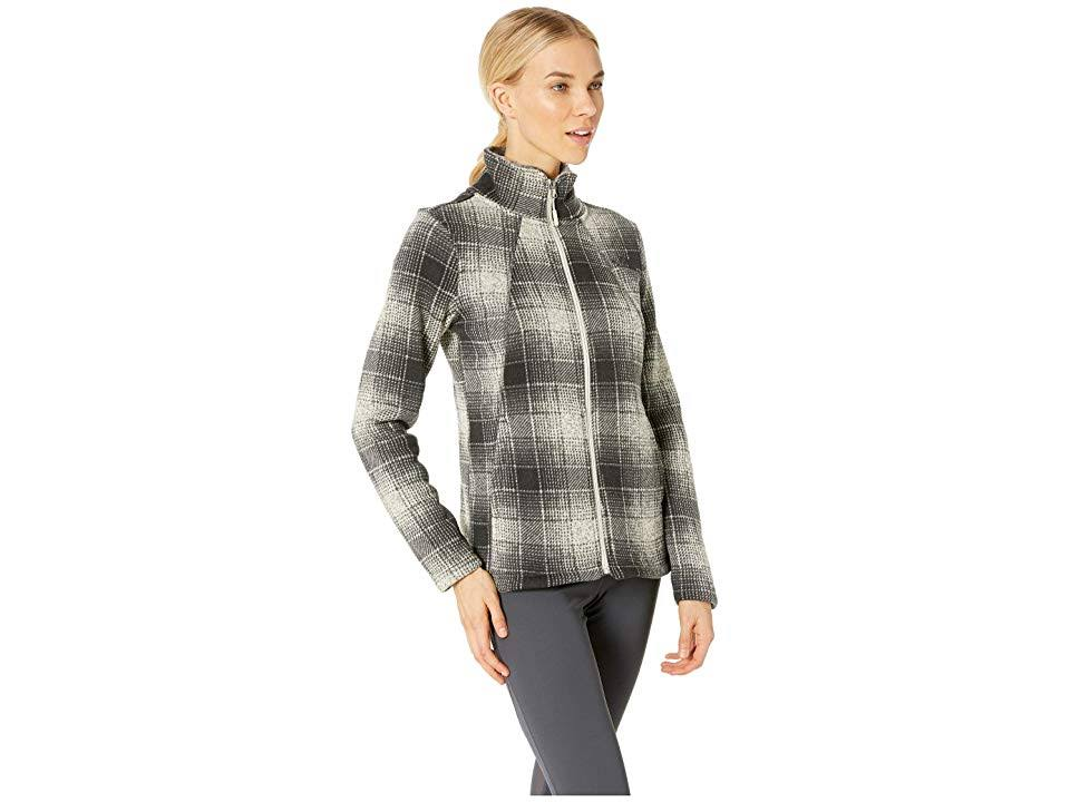 Mujer Completa Vintage Ombre Plaid North Blanco Para Regular Xs Face Cremallera The pgdwXX