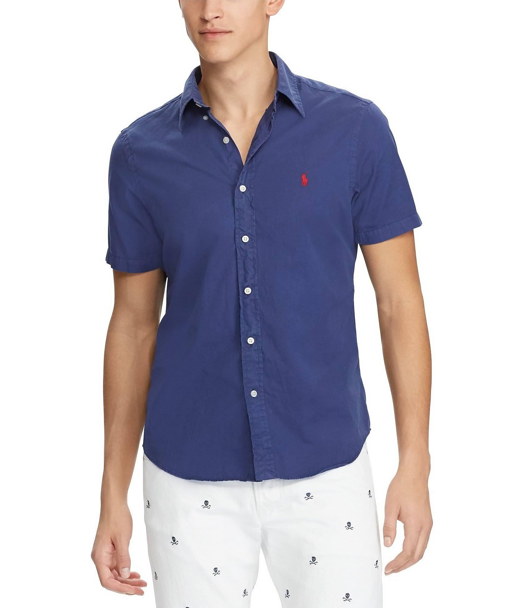 Lauren Twill Polo Blue New Klassisches Navy hemd Ralph Für Xl Herren OtOw5rqx