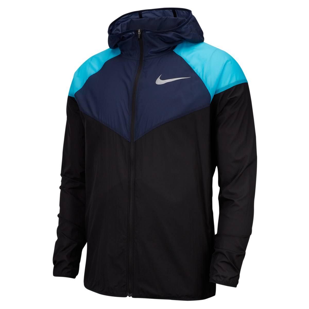 Negro Reflectante Obsidiana Talla Nike S Plata Jacket Mens Windrunner BwCxW1qX