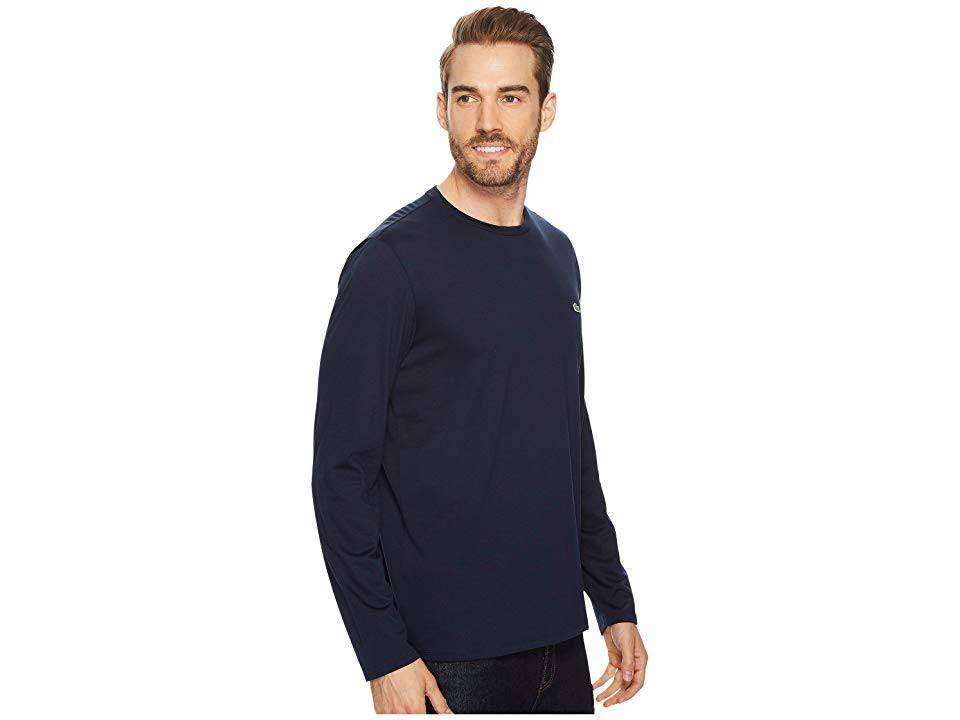 Marineblau pima shirt X herren klein Lacoste Langarm t W1vcH5gq