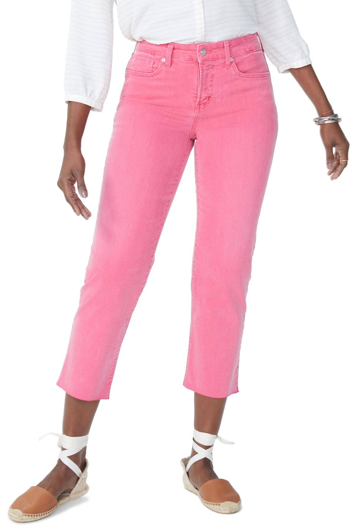 Jeans Jaune Femmes Nydj 2 Rose Straight Jenna Ankle Taille nIBIqwYPd