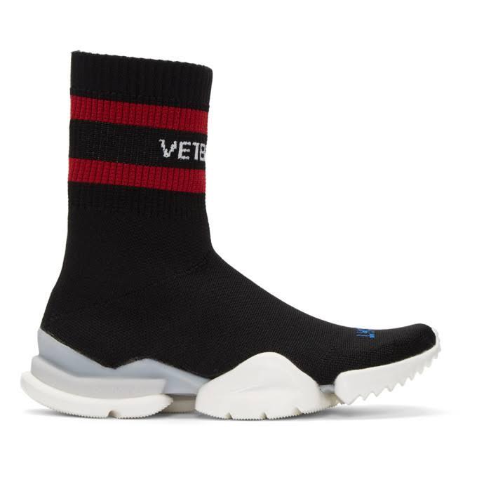 Edition Sockenpumpe Reebok Hohe Vetements Sneakers Schwarze nRAWazwEf