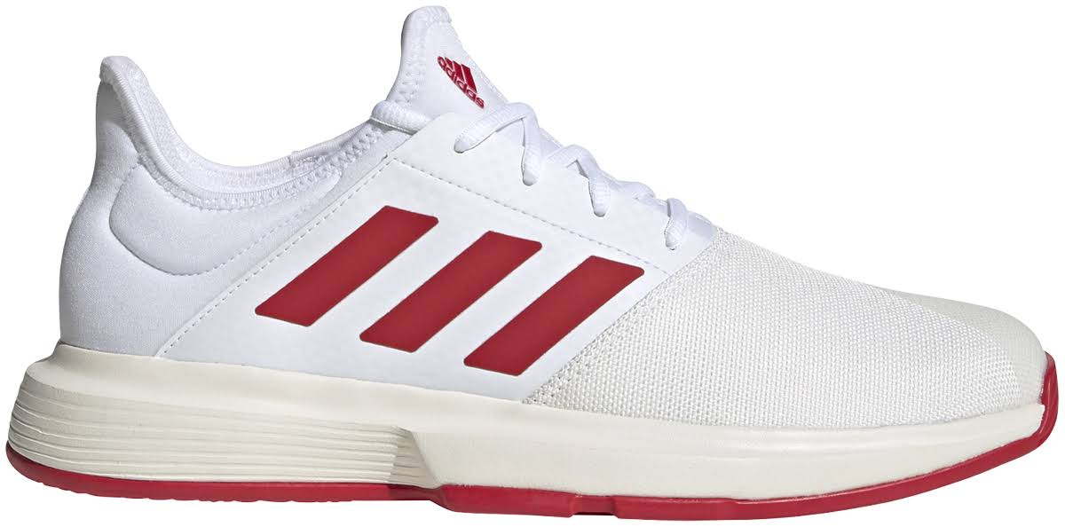 Adidas Game Court Trainers Mens - White/Red