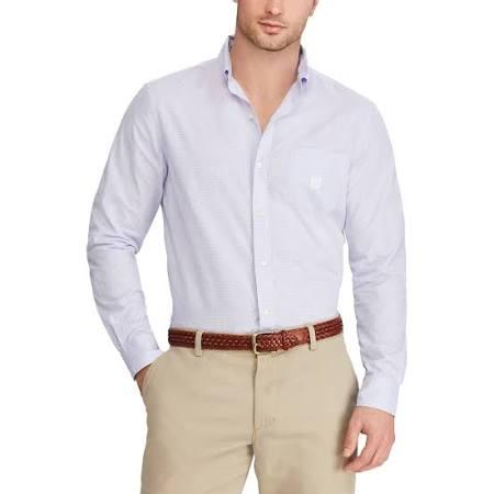 Uso Tamaño Fácil Hombres Classic Xxl Camisa Chaps Abotonada Púrpura De Para BqPwtpw1