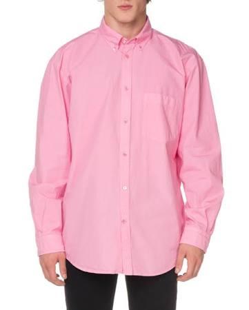 Rückseite Für Herren Balenciaga Der Logo Oxford Mit Pink sporthemd Auf Anxx86E