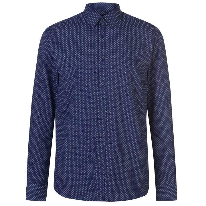 Camisa Hombre Manga De Para Talla Cardin Pierre Azul Larga M rpgrMOqY