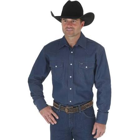 Wrangler Caqui Cowboy Para Cut Color Estándar Estándar Camisa Hombre Western Work dw5qgnwB8