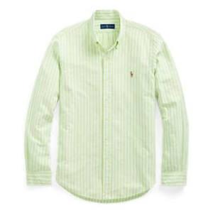 Fit Talla Ralph En Rayas Blanco Slim Aguacate Oxford De L Lauren Camisa OKxOTPwEy