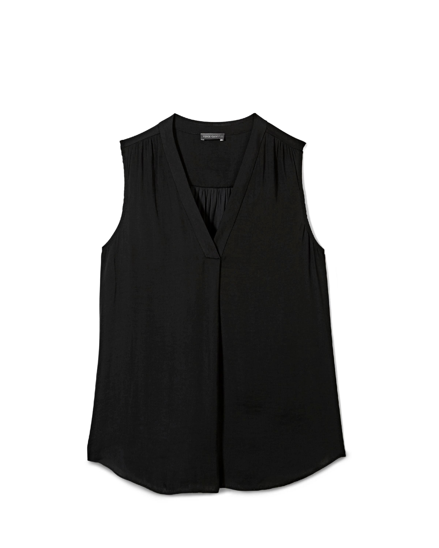 Blusa M Rumple Rich Invert Black Pleat Camuto Mujeres Vince HqwWvS6WZ