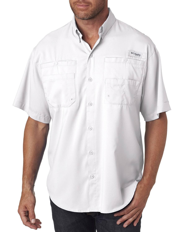 7266 Manga Blanco Columbia De Regular Para Tamiami Hombre Corta Ii Camisa S nYCpxwq7Zx