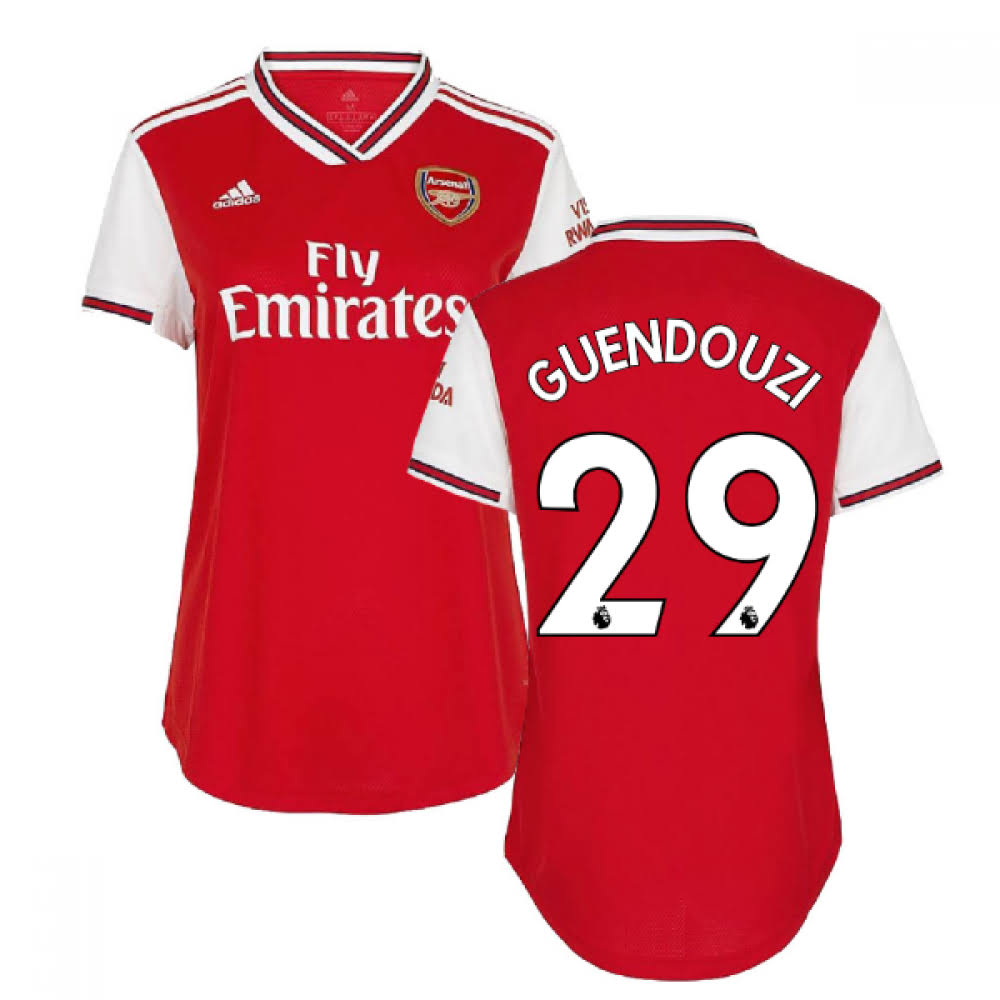 2019-2020 Arsenal Adidas Womens Home Shirt (GUENDOUZI 29)