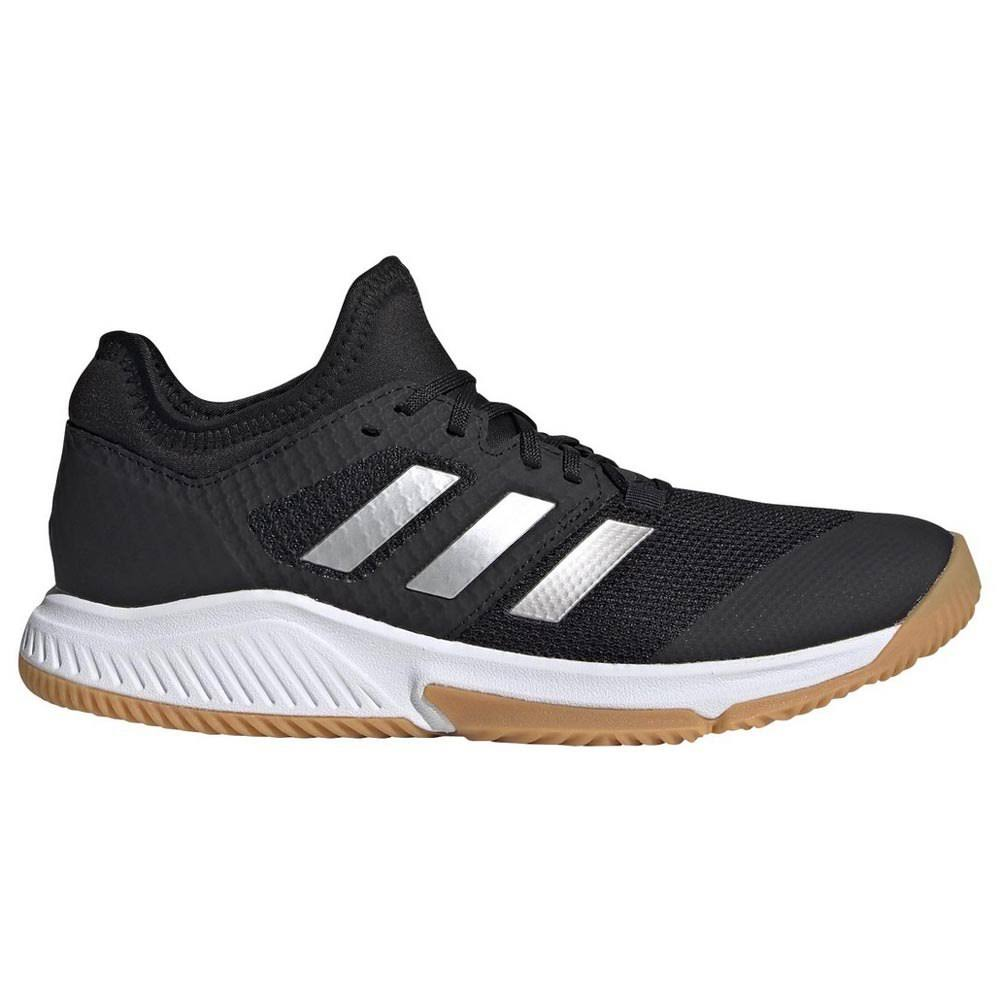 Adidas Court Team Bounce Shoes - Black/Silver Met/White