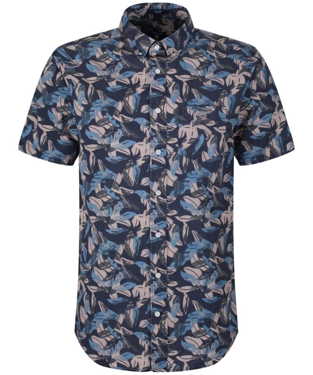 Corta Clásico Hombre Camisa Airy Gant Leaves Para Manga Con Azul U7gCfqw
