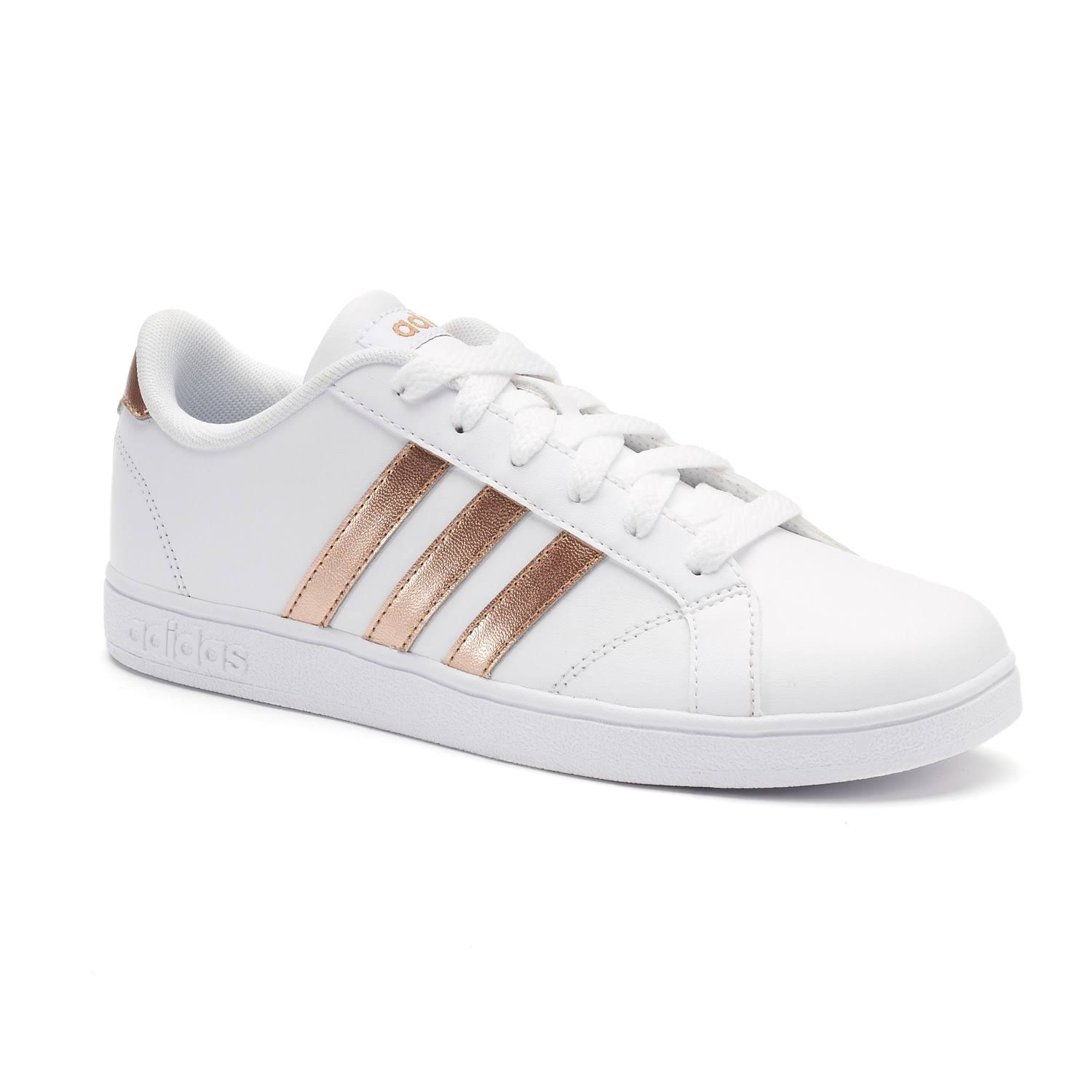 Girls White 4 Baseline Sneaker Medium Youth K Adidas xRT4CT