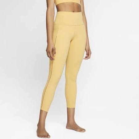 Nike Yoga Luxe Women's Infinalon Ribbed 7/8 Leggings - Gold