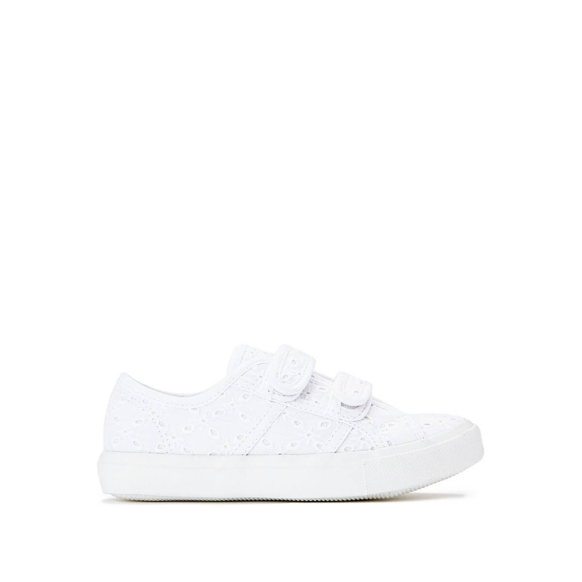 La Redoute Collections Kids Canvas Trainers By La Redoute in White