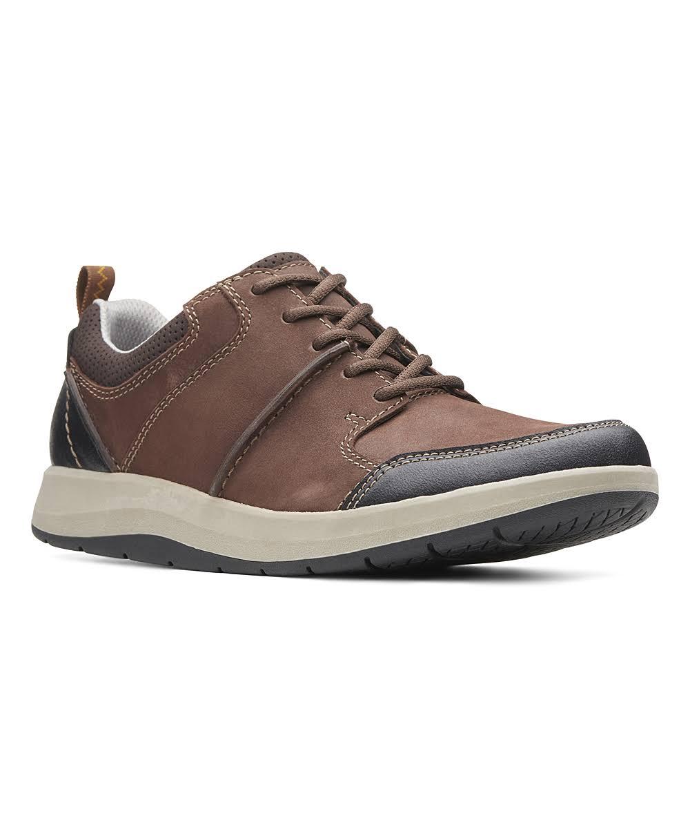 Shoda Pelle Stride Marrone Uomo Di Da Sneaker ClarksMisura9In jL543AR