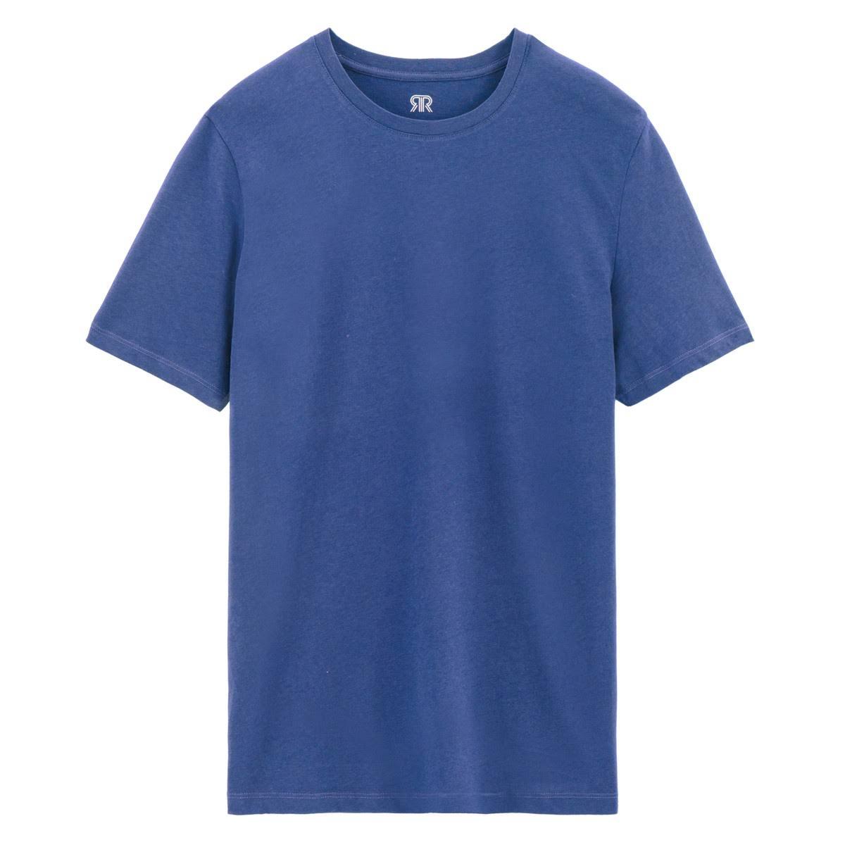 Größe Aus Von shirt Groß Redoute Mit Baumwolle T Rundhalsausschnitt Blue La In Collections Aqua qn7RxTX