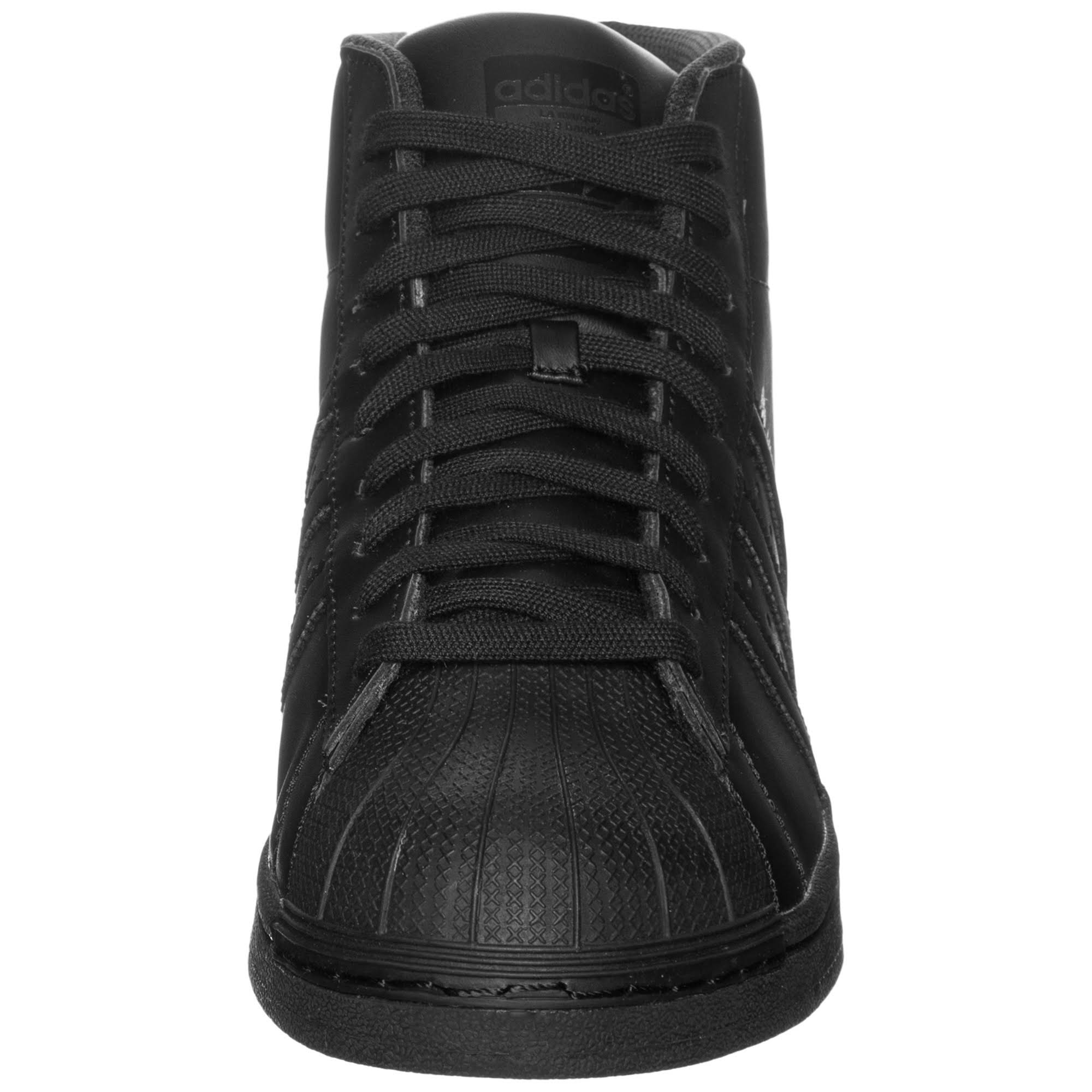 Sports Leather Shoes Pro Superstar Model Adidas Black IwzOqxX