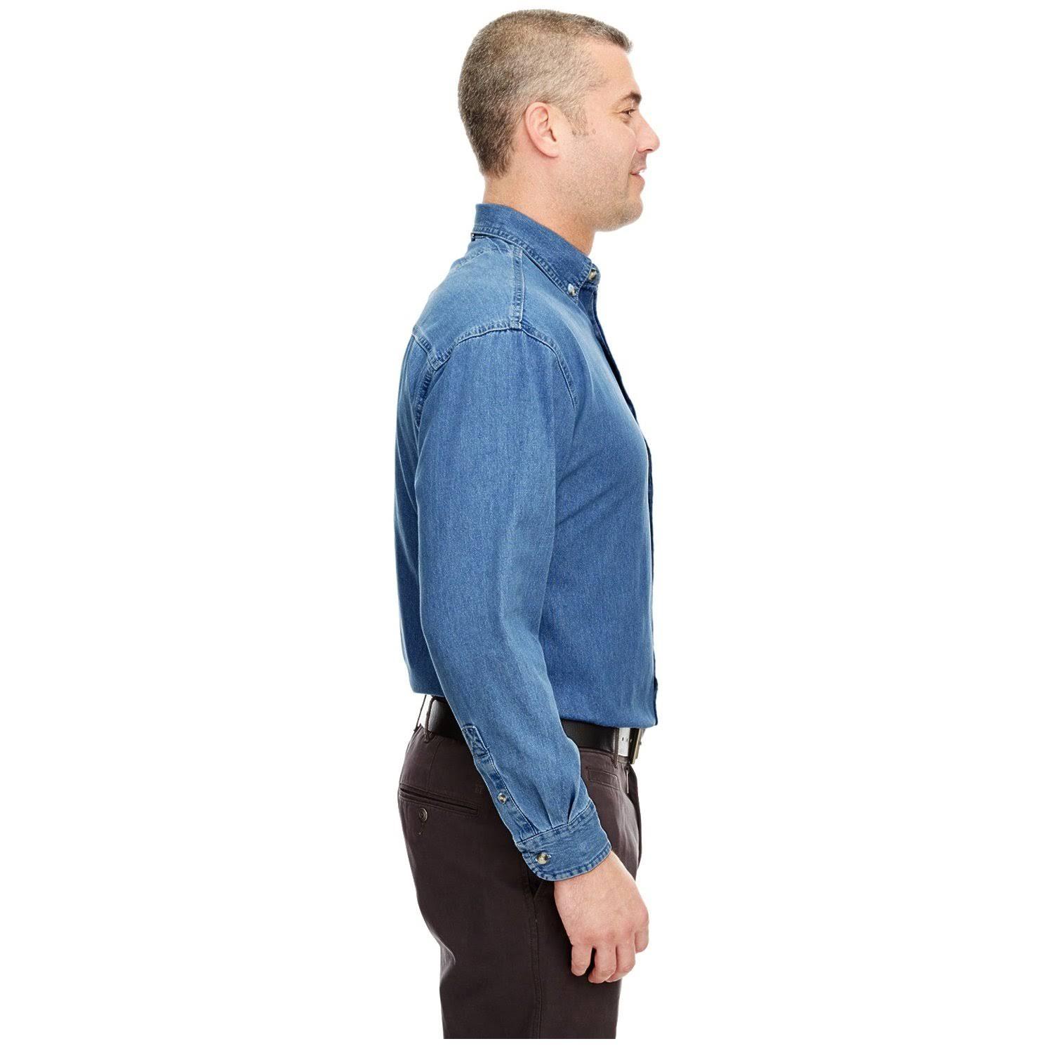 Cypress Herren Pocket large indigo Shirt Denim Ultraclub 8960 x OEqngSO5w