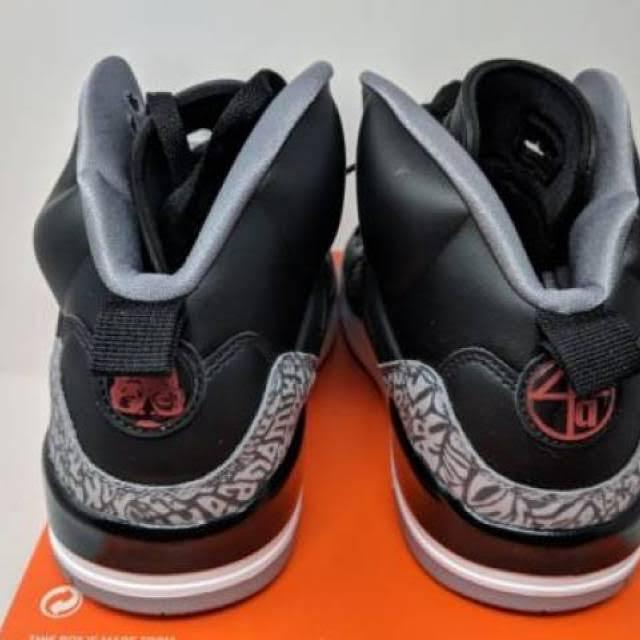 12 Tamaño Jordan Cement Spizike White Grey Black fqxgIwa