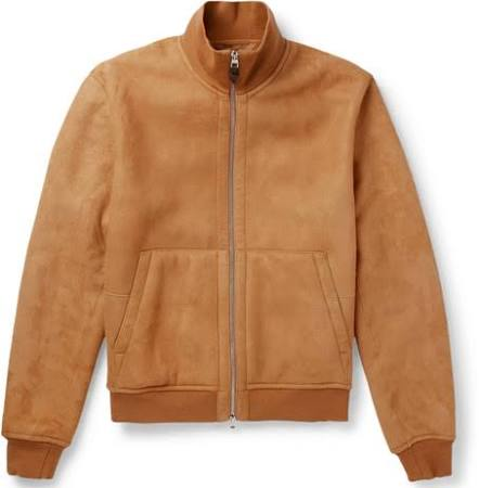 Dunhill Men Jacket Shearling Blouson Camel rBqrgwO