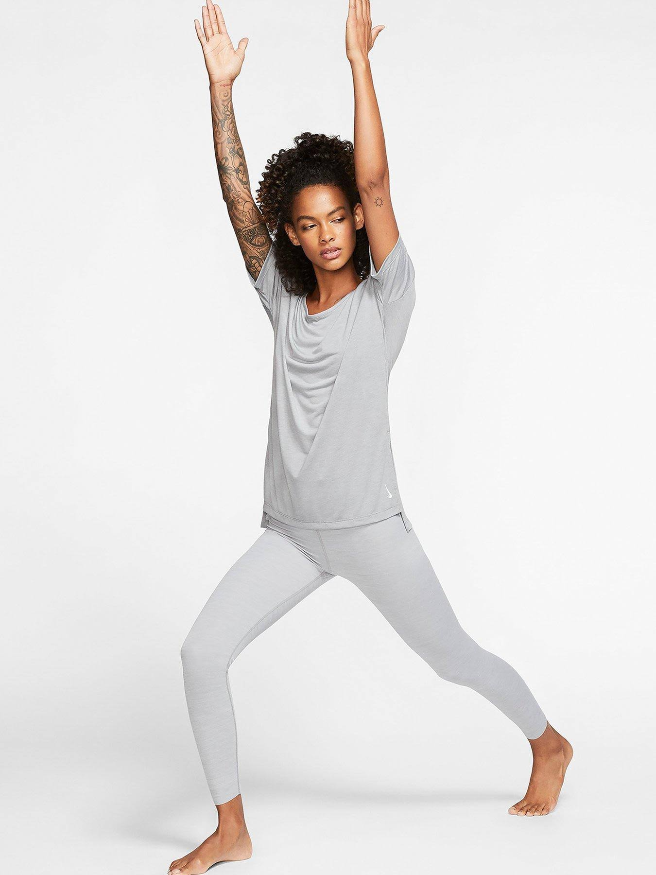 Nike Black Women Training Top S Grey