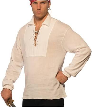 Pirata Camisa Con Tamaño Negra Cordones Para Pizazz Xl Hombre fdSdqwg