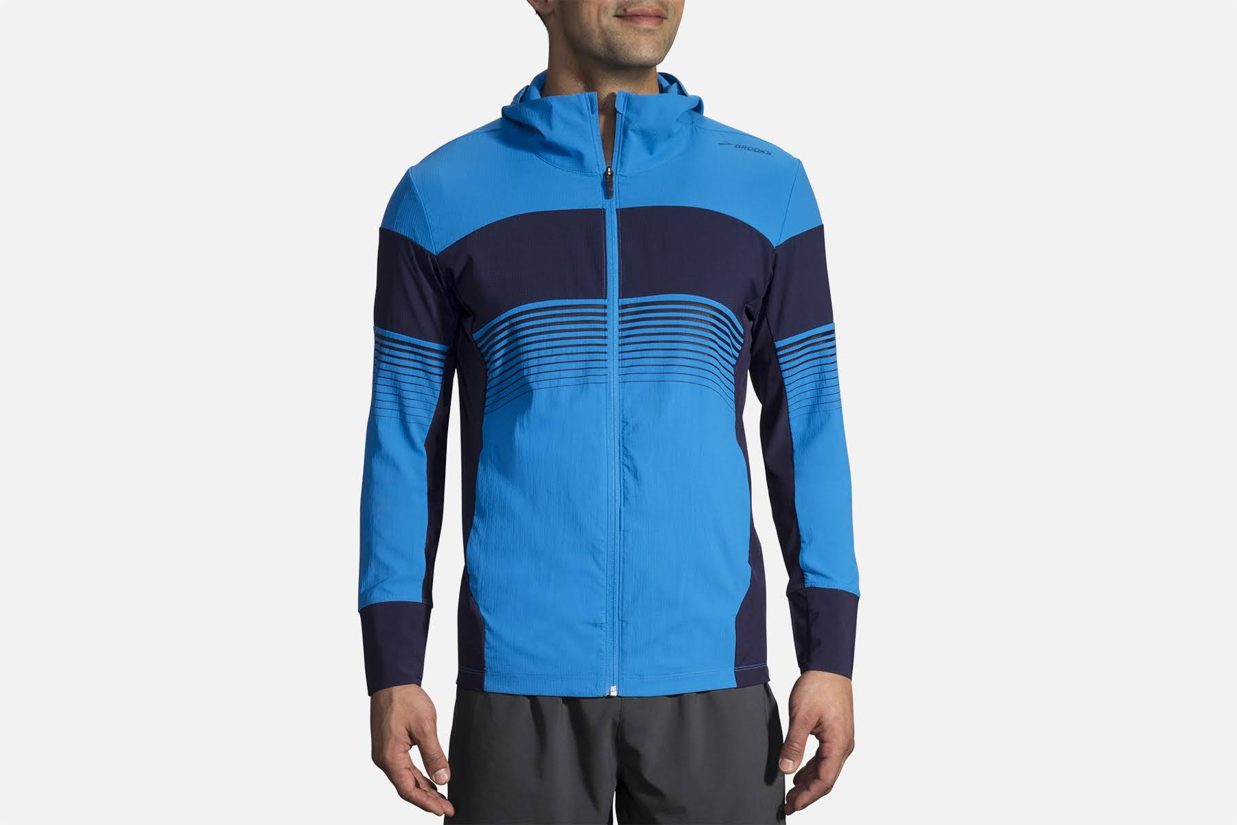 Stripe Small Navy Größe Azul Jacket Running Brooks Canopy Herren 4qgRxwXn08