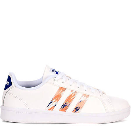 Adidas Shoes White navy coral Sneakers Striped Womens Advantage TATxrnwqzH