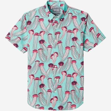 Mxlong Männer Freizeithemd Slim Für Riviera Bonobos Von Kurzarm Jellyfish Aqua wazZfqIx