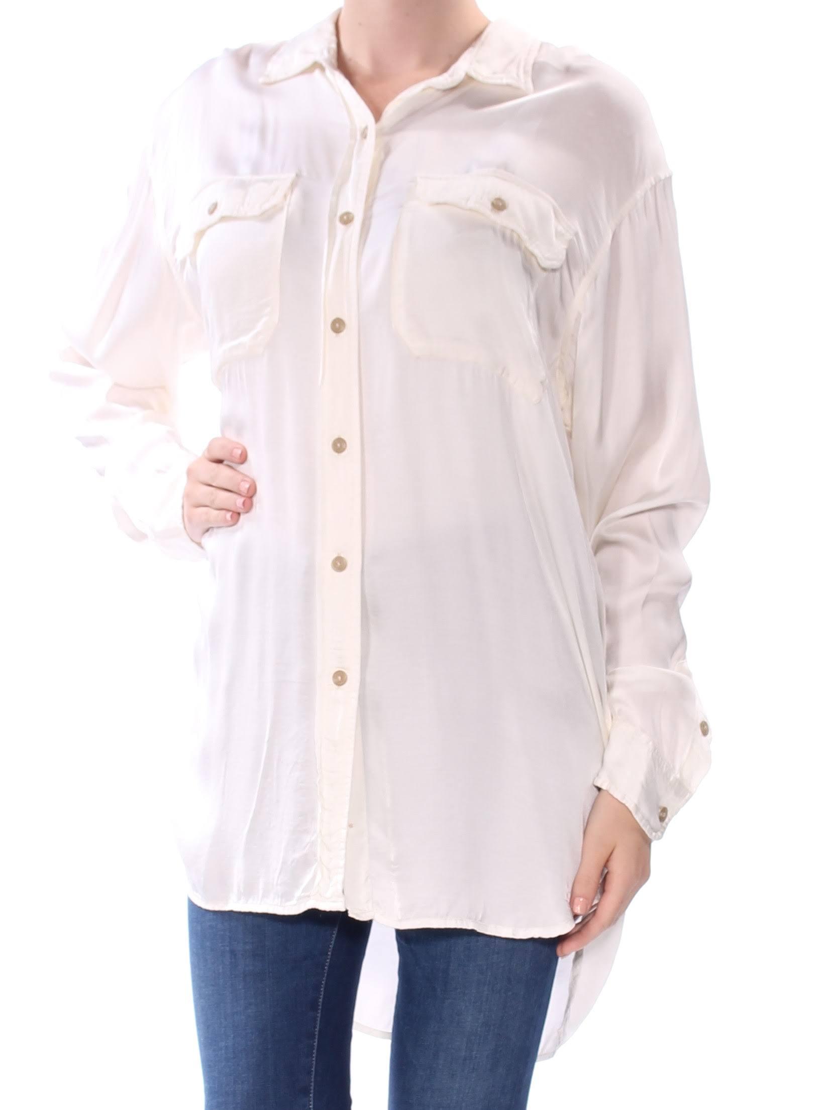 Abotonada De Camisa Militar Para Lauren M Antiquecream Satén Mujer Ralph OqAEa