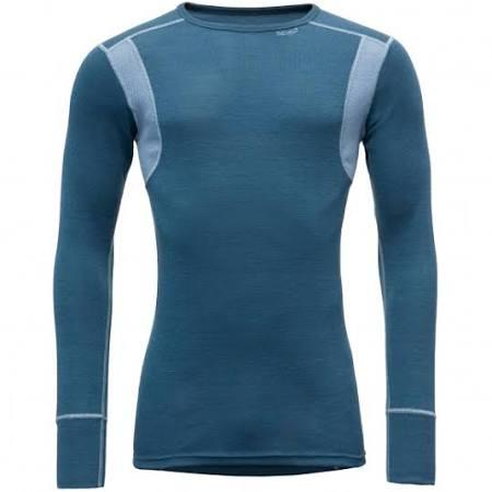 Senderismo s Azul Base Devold De Azul Merino Camisa Layers qZv5w