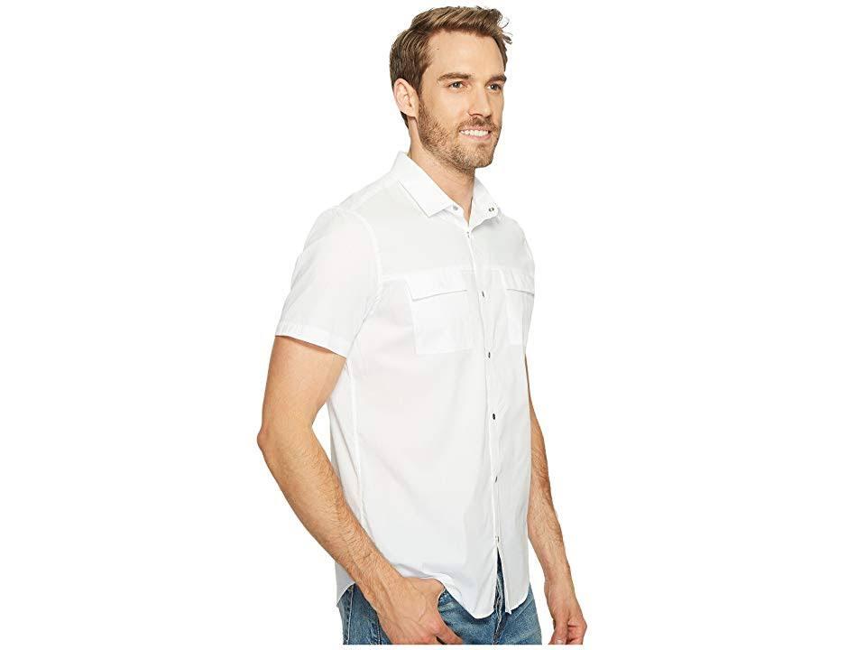 Popeline Military Klein Herren Weiß Shirt Xl Calvin Kurzarm Stretch awIfBxZnqg