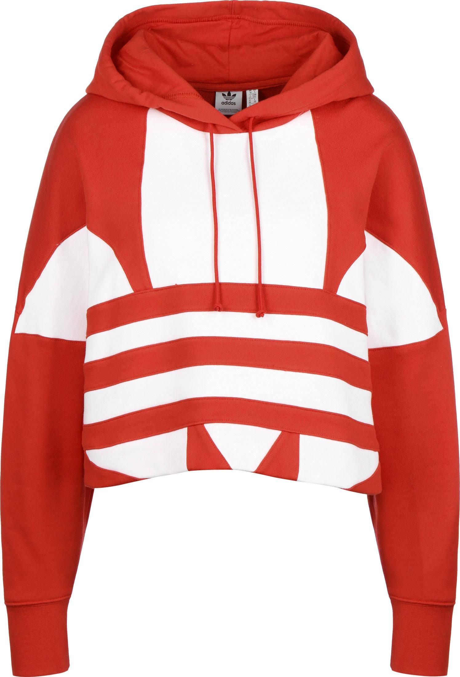 Adidas Originals 'Large Logo Crop' Hoodie