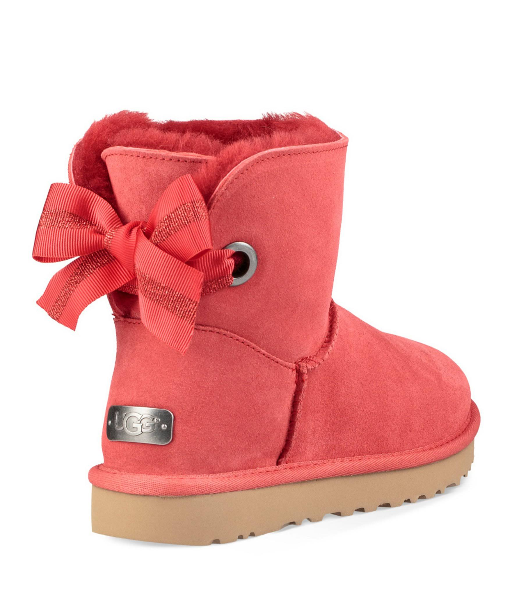 Ugg Bailey Red Bow 9m Mini Ribbon Booties Custom Womens rF5q8r
